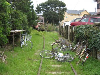 廃線と自転車