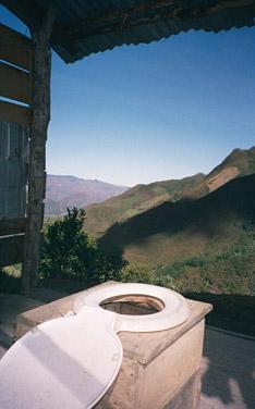 絶景を見ながらトイレ