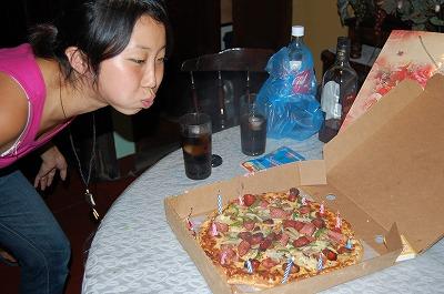 ピザろうそく