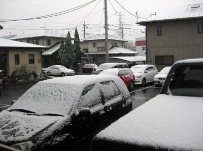 前橋市に雪が降った