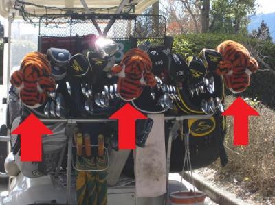 虎のヘッドカバー