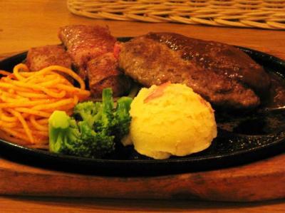 ステーキのどん 荒牧店/ハンバーグ&一口ステーキ