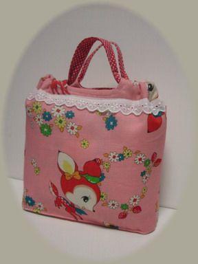 バンビの巾着バッグ