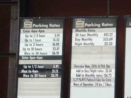 parking rate
