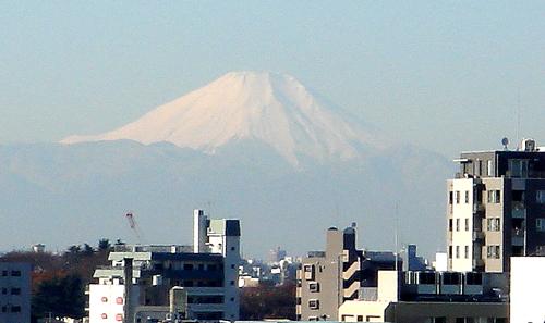 会社屋上から富士山