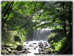 滝につながる川