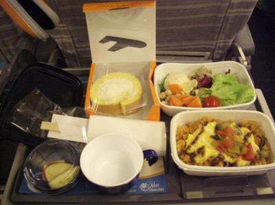 ハワイ出発 機内食