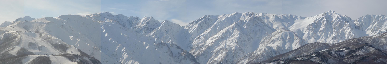 岩岳からみた八方尾根と北アルプス