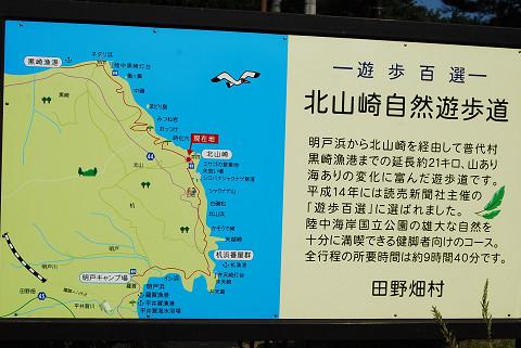 北山崎自然歩道看板