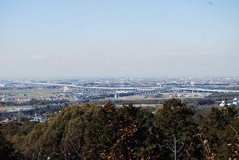 あずまやからの岡崎の風景