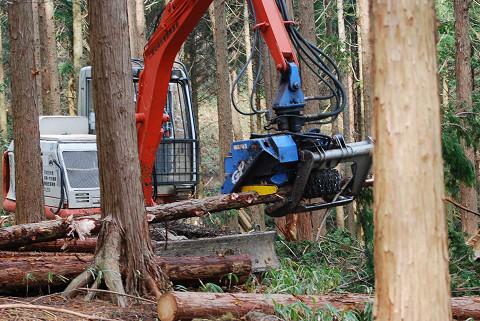 伐採のマシーンが