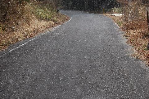 アラレの吹雪が
