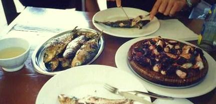 ガリシアで食べたタコ