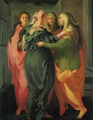 pontormo聖母のエリザベツ訪問