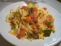トマトと野菜のスープスパ