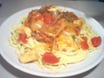 トマトチキンパスタ