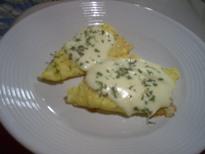 鱈のピカタチーズ焼き