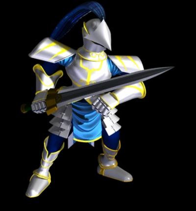 聖戦士 ポーズ1