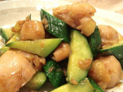 鶏ときゅうりの塩ダレ炒め