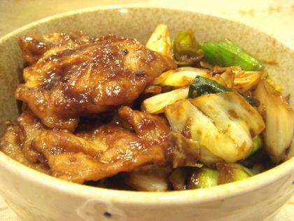 豚の味噌焼丼