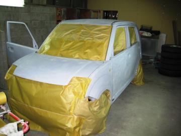 作業工程 全塗装前磨き後