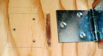 低床作業台天板彫込