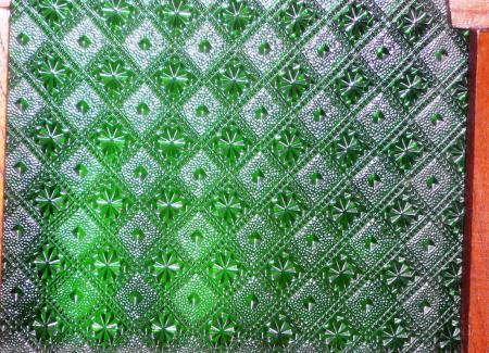ネシア家具ガラス緑