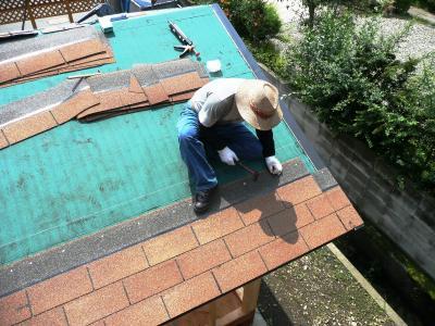 屋根張り開始