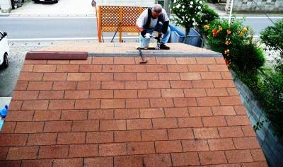 屋根張り完