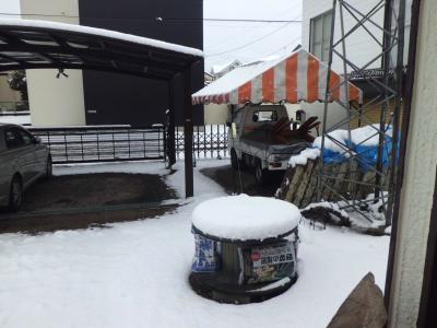 2月25日雪の朝