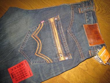 EDWIN 404XVS 刺繍ジップポケット・ルーズ(濃色ブルー236)01
