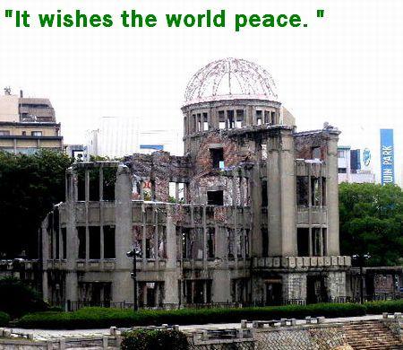 世界がずーっと平和ですように