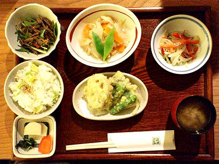 錦での食事