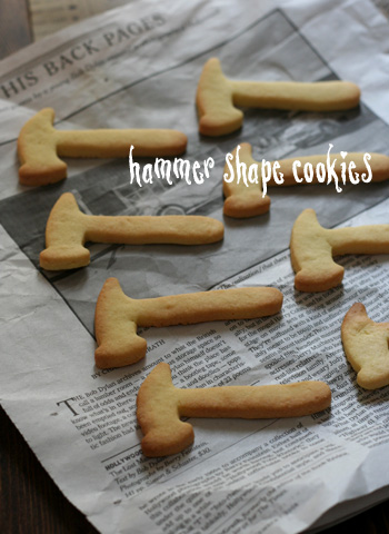 hammer shape cookies