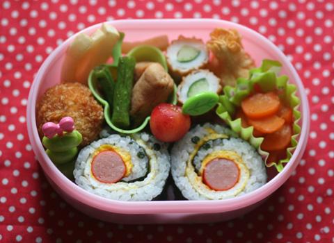 かたつむりの巻き寿司弁当