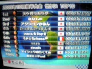 2009年10月後半大会世界ランキング