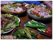 豚肉と野菜のネギソースかけ
