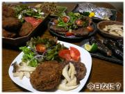 メンチカツ&ハンバーグご飯
