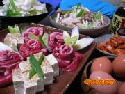 すき焼き(牛肉+鶏胸肉)