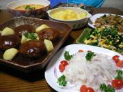 ハンバーグ&茶碗蒸し(風)