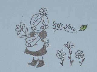 お花畑の女の子 花1つ50
