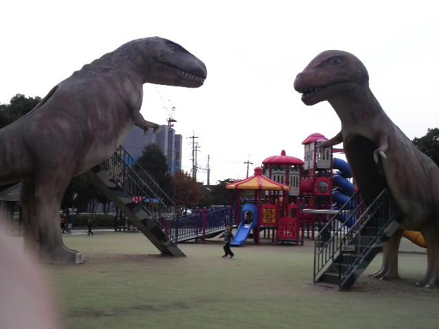 大高緑地公園 恐竜広場