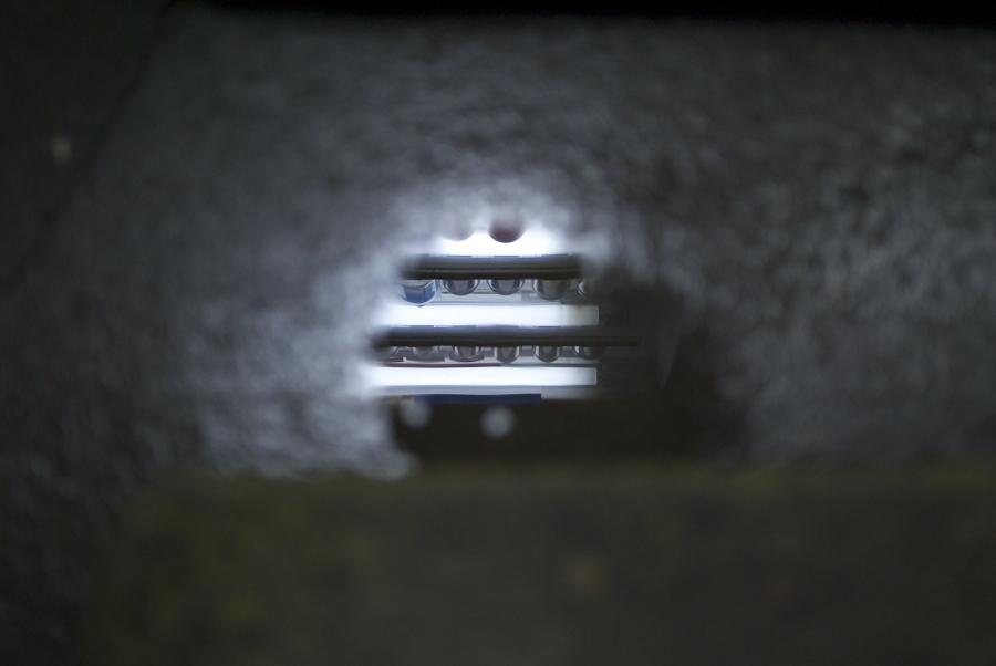 雨上がり 自動販売機