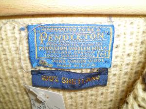 pendleton knit cardigan tag