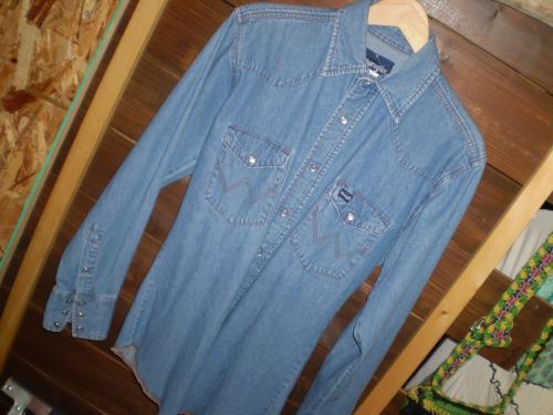 wrangler denim western shirt 2