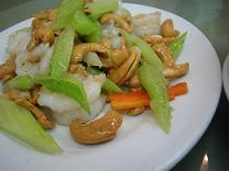 ナッツ、セロリ海鮮炒め(小)
