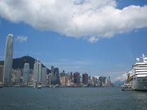 雲と香港島(小)