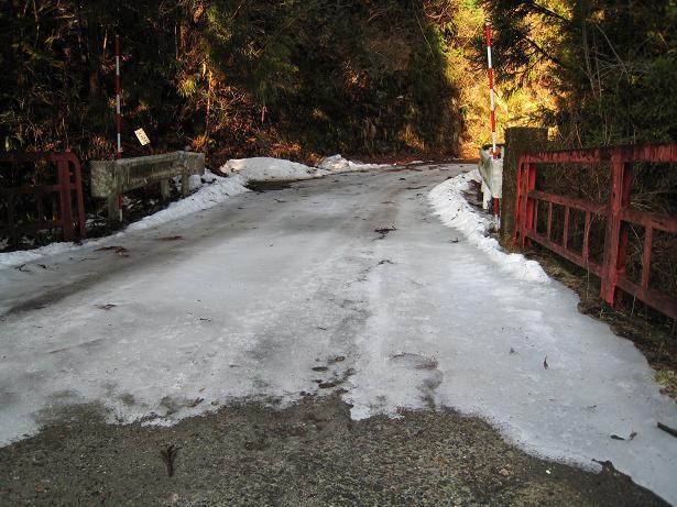 澄川入渓点の手前