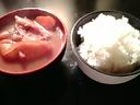 赤味噌の豚汁&ごはん