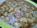 マーボー豆腐をごはんにブッカケてマーボー丼の出来上がり